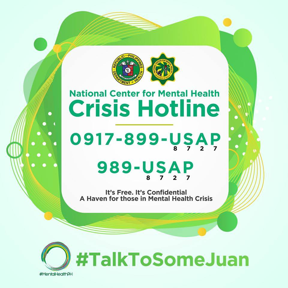 The Department of Health (Philippines) (DOH) and National Center for Mental Health launched yesterday the NEW NCMH Crisis Hotline!