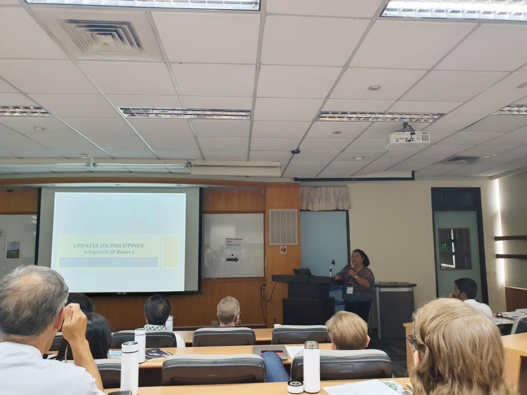 Dr. Bautista gave updates on Philippine Selaginella