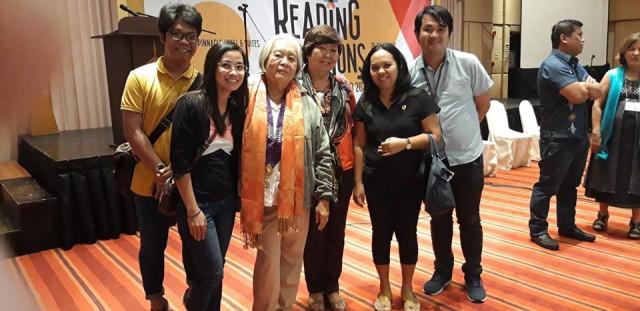 USeP Literature and Language Faculty  with Professor Emeritus Merlie Alunan