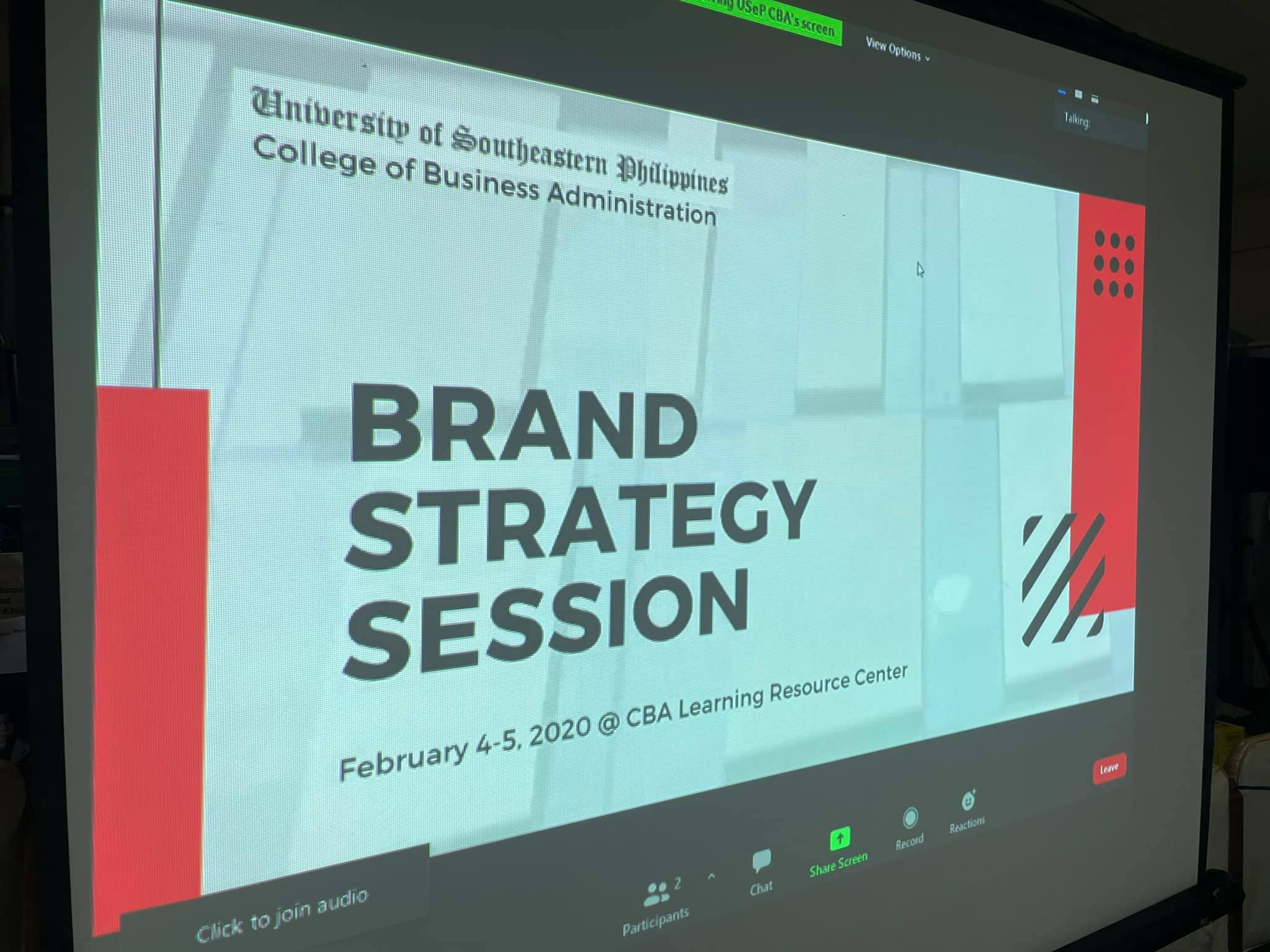 Brand Strategy Session for CBA