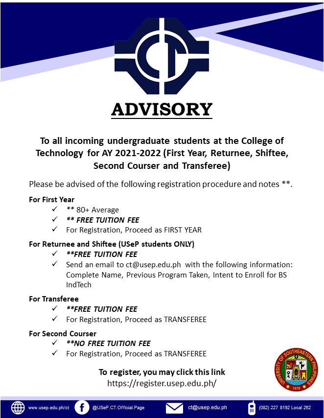 Advisory on College Admission for A.Y. 2021-2022