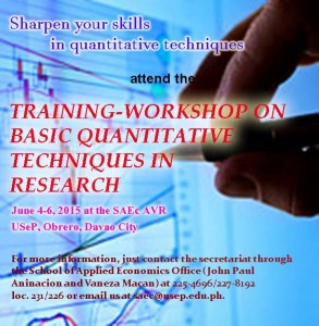SAEC Training-workshop on Basic Quantitative Techniques for Research