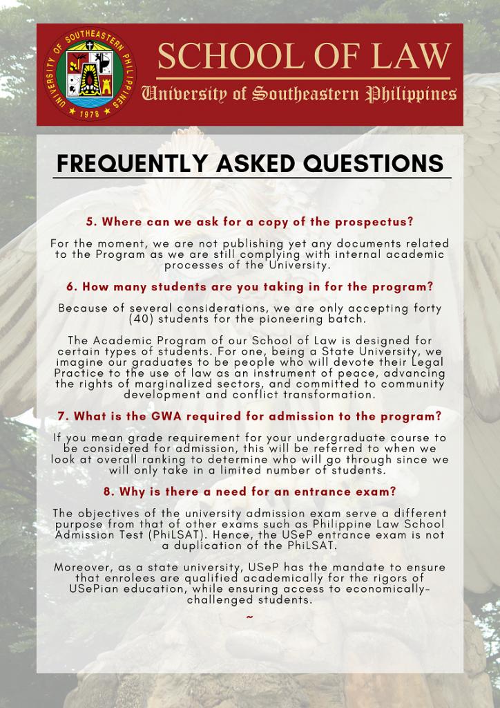 School of Law FAQ Page 2
