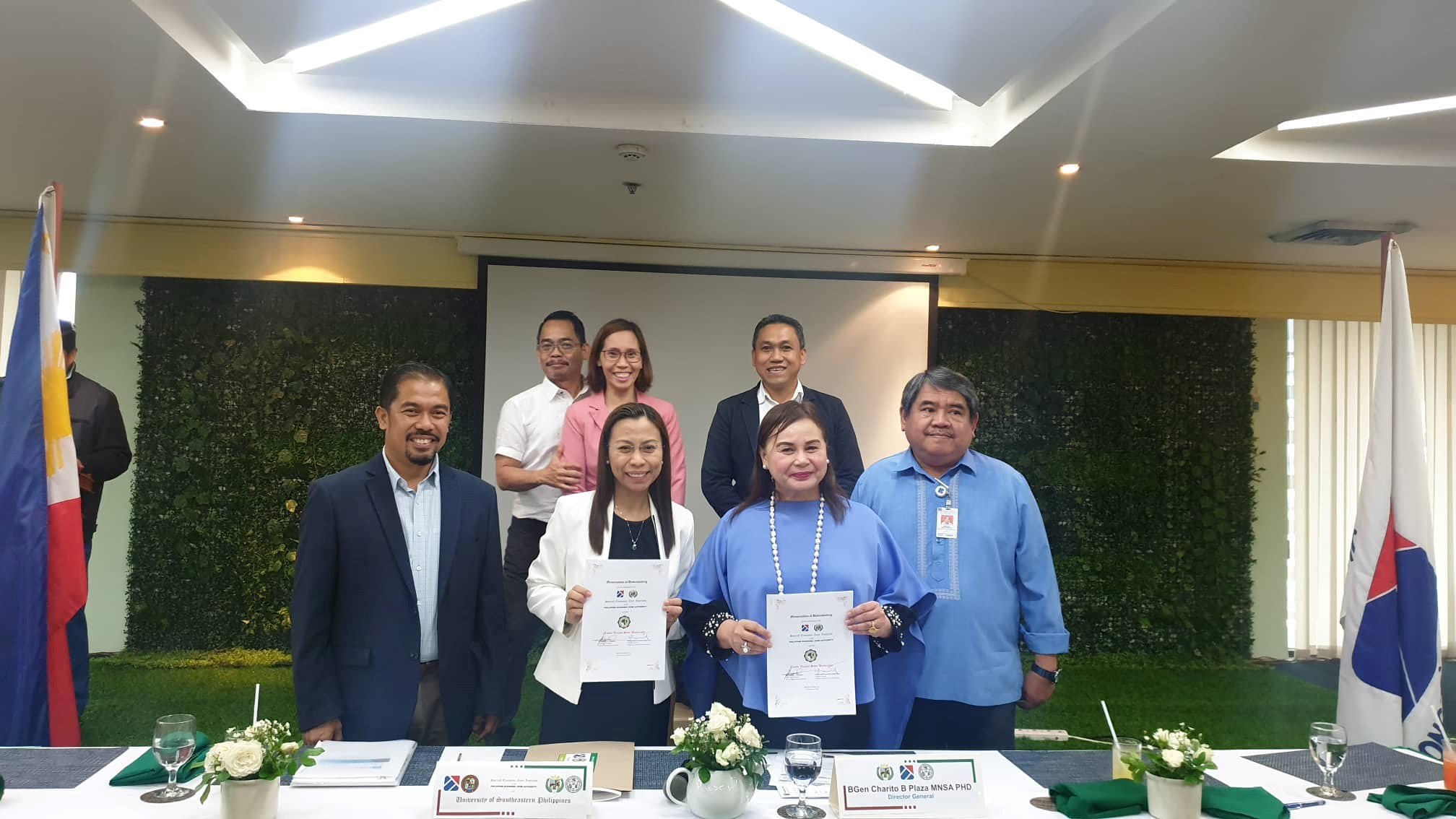 USeP attends MOU signing and project consultation with PEZA and its academic partners
