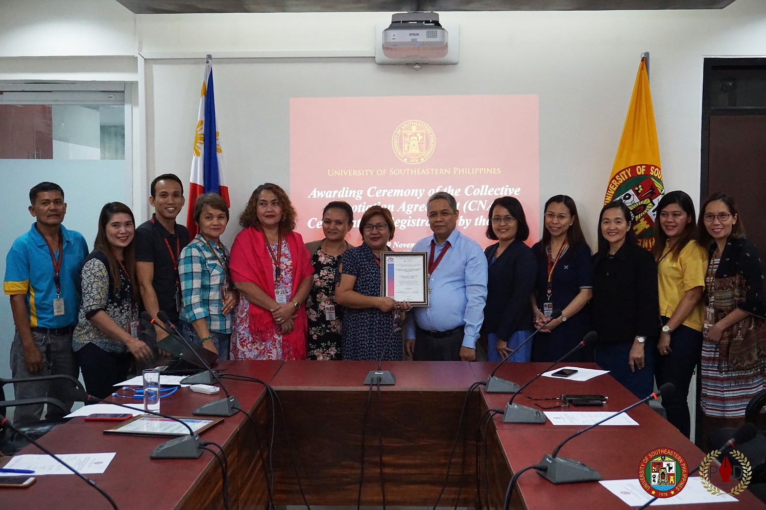 USeP receives CNA Certificate by CSC
