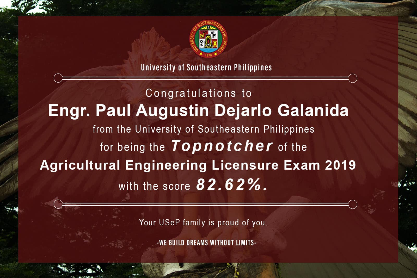 USeP tops Agricultural, Biosystems Engineer Licensure Exams